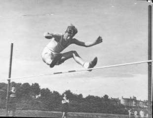 filippo a gordonstoun durante un campionato di atletica leggera