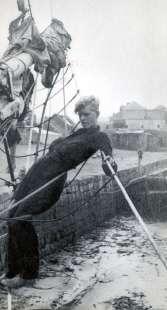 filippo su una barca costruita nel 1936