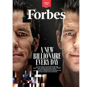gemelli winklevoss sulla copertina di forbes