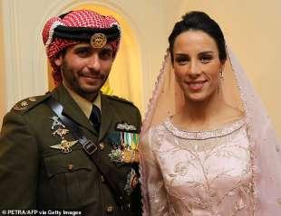 hamzah bin husein con la moglie basmah bani ahmad