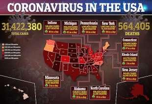 Il coronavirus negli Usa