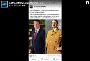 il post della anti defamation commission