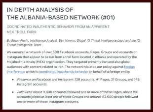 Il rapporto dell'intelligence sulla fabbrica di trolls in Albania