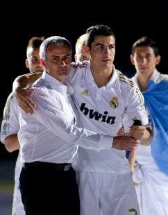 Jose Mourinho e Cristiano Ronaldo