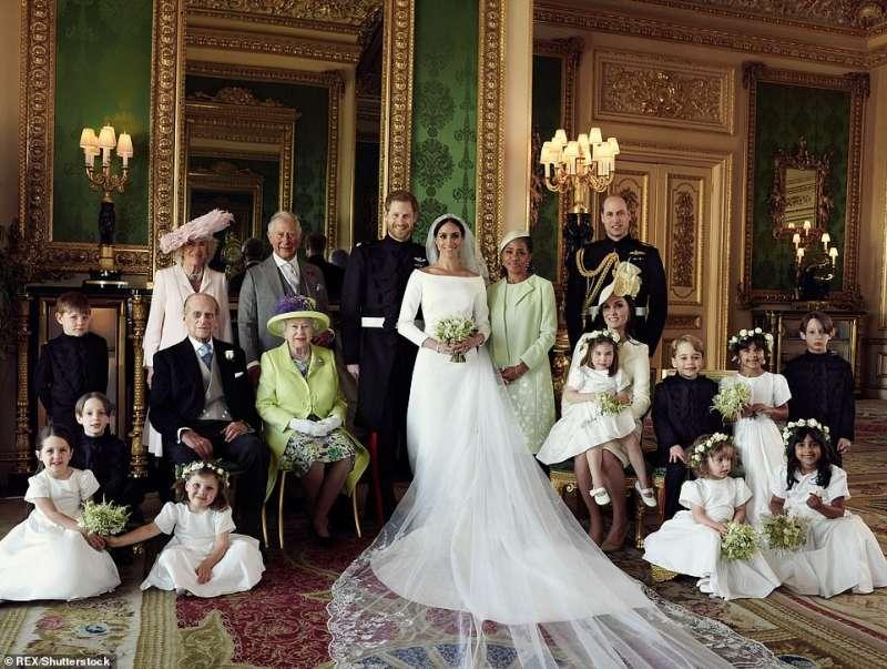 la famiglia windsor matrimonio harry e meghan