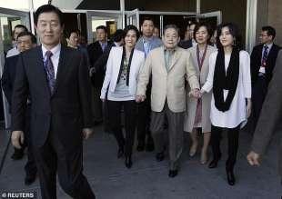 lee kun hee con le figlie lee boo jin e lee seo hyun e la moglie hong ra hee