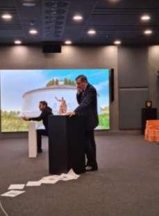 luca josi luigi gubitosi guidano mark zuckerberg al mausoleo di augusto 2