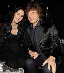 LWren Scott e Mick Jagger