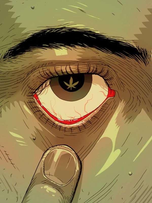 marijuana occhi
