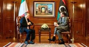 Mario Draghi e Abdul Hamid Mohammed Dbeibeh