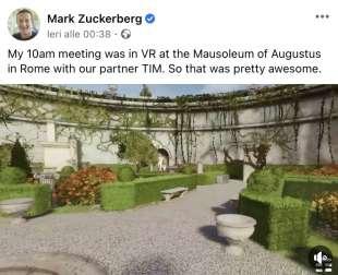 mark zuckerberg visita virtuale al mausoleo di augusto 2