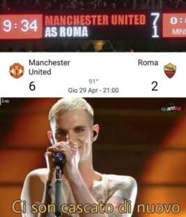 meme manchester united roma17
