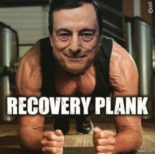 meme su Mario Draghi e il recovery plan