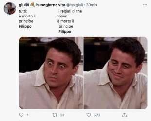 meme sulla morte del principe filippo