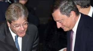 PAOLO GENTILONI E MARIO DRAGHI