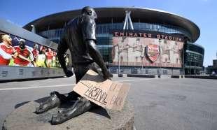 proteste emirates stadium arsenal