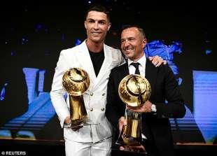 Ronaldo con Jorge Mendes