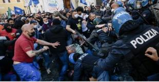 scontri tra ristoratori e polizia davanti montecitorio 23