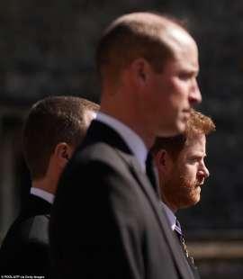 william e harry al funerale del principe filippo