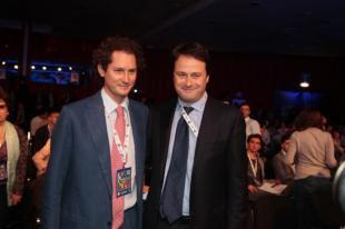 il Presidente de La Stampa e di Fiat John Elkann e lAd di RCS Pietro Scott Jovane