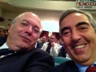 FRANCESCO STORACE E MAURIZIO GASPARRI SELFIE