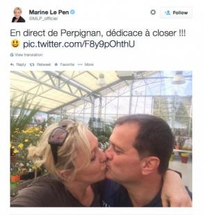 MARINE LE PEN BACIO CON LOUIS ALIOT PER SMENTIRE CLOSER