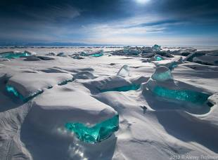 #7 emerald ice on baikal lake, russia