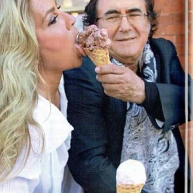 Al bano carrisi e romina power con gelato dago fotogallery for Al bano e romina power