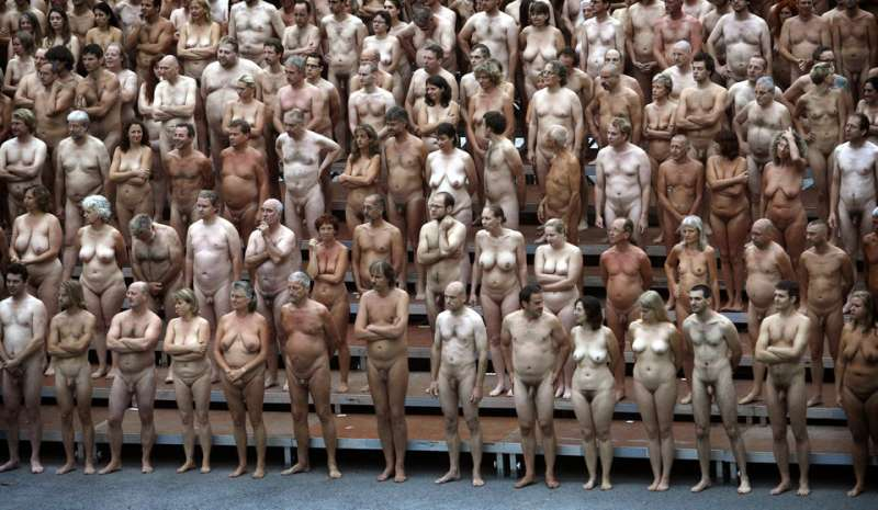 Words... super, spencer tunick group nudes possible
