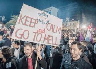PROTESTE IN GRECIA CONTRO L AUSTERITY