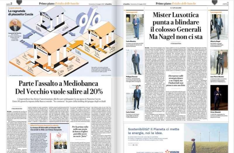 REPUBBLICA - ARTICOLO SU MEDIOBANCA