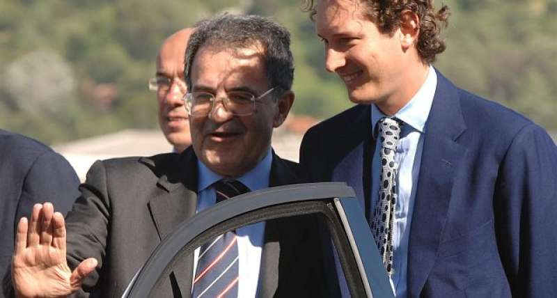 Romano Prodi e John Elkann