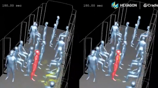 simulazione – come i droplets ricoprono una persona con cui stiamo parlando in metro 3