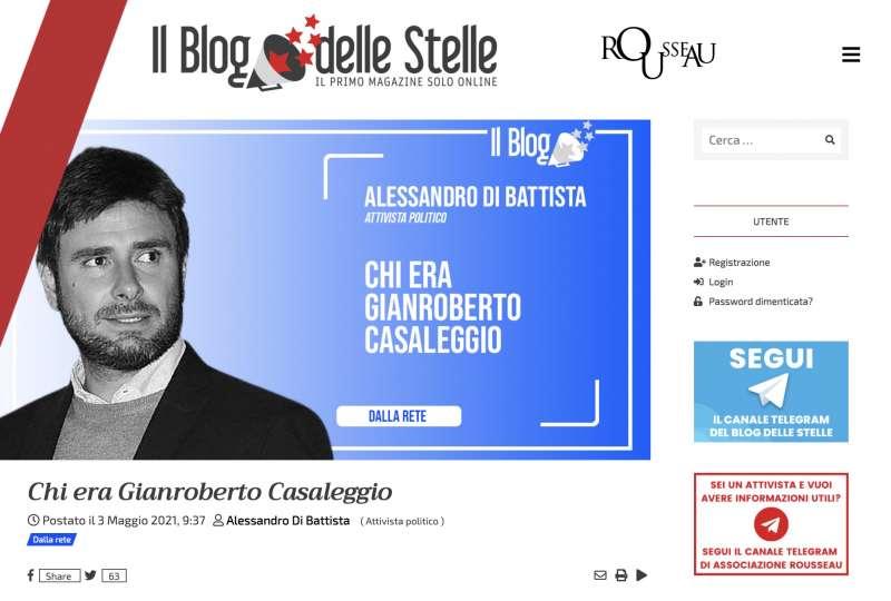 ARTICOLO DI ALESSANDRO DI BATTISTA SUL BLOG DELLE STELLE