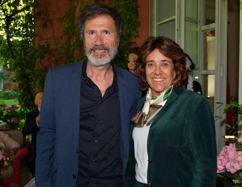 corrado veneziano con l ambasciatrice gloria isabel ramirez foto di bacco