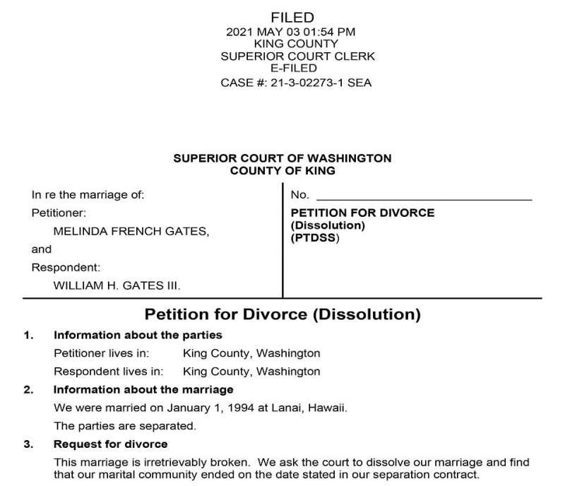 il divorzio tra bill e melinda gates