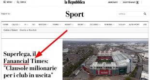 Il Financial Times secondo La Repubblica