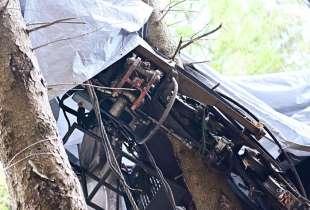 il forchettone dei freni di emergenza della funivia del mottarone