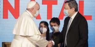 il papa e draghi
