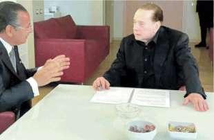 Kamel Ghribi e Silvio Berlusconi
