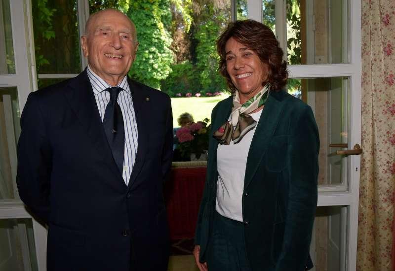 l ambasciatore umberto vattani con l ambasciatrice della colombia gloria isabel ramirez foto di bacco