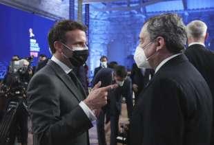 Macron e Draghi Summit Porto