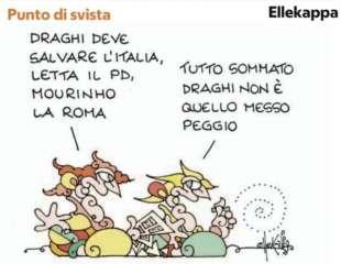 MOURINHO ALLA ROMA - VIGNETTA ELLEKAPPA