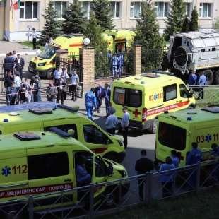 sparatoria in una scuola di kazan, russia 5
