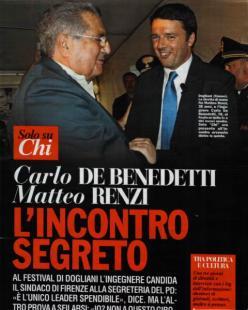 CARLO DE BENEDETTI E MATTEO RENZI A DOGLIANI DA CHI