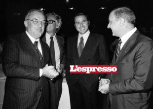 FRANCO DI BELLA, BARBIELLINI AMIDEI E BERLUSCONI