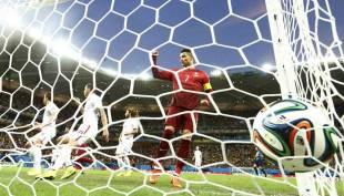 cristiano ronaldo esulta dopo il gol agli stati uniti