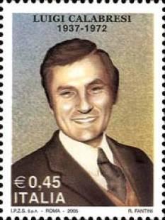 francobollo per Luigi Calabresi