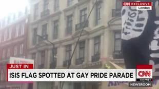 Gaffe bandiera dildo su CNN