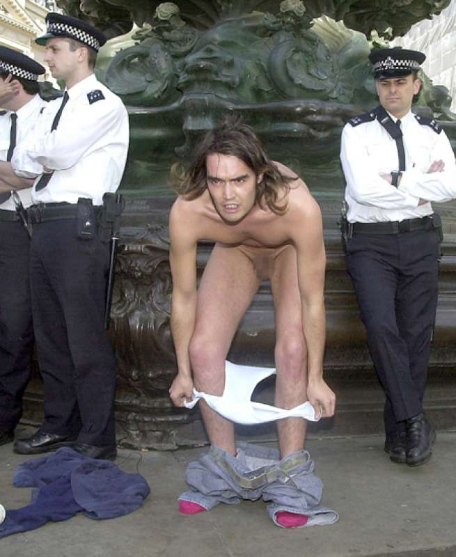 russell brand with naked girls